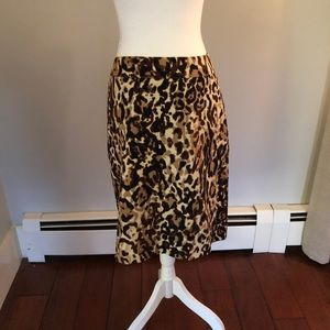 Merona double weave leopard pencil skirt